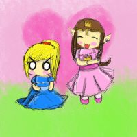 Samus and Zelda by 1xbluebellx1