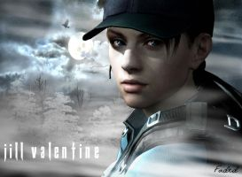 Jill Valentine in Dark Forest by FadedBlackangel