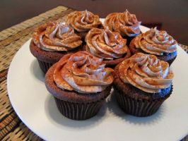 Mocha Cupcakes with Coffee Buttercream by StarDragon77