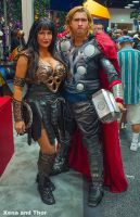 Xena and THOR at SDCC International 2012!!! by captainjaze
