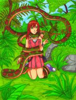 Comission: Kaa meet Kairi by SailorMiha