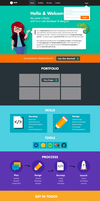 Personal Portfolio Mockup (Not Final) by shesta713