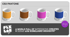 CS3 Pantone Mugs by ekzwo