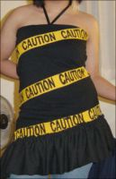 Caution Tape Dress by luckythirteen