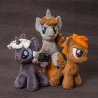 Chibi plush Littlepip, Calamity and Velvet Remedy by Valmiiki
