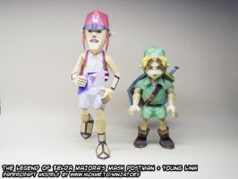 Postman + Link papercrafts by ninjatoespapercraft