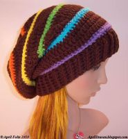 Candy Rainbow Slouch Hat by aprildraven