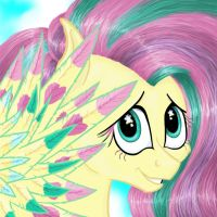 Fluttershy Rainbow Power by ambergerr