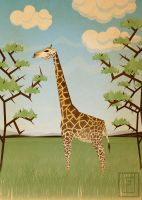 Giraffe by Fresco24
