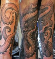 Octopus First Pass by JWheelwrighttattoos