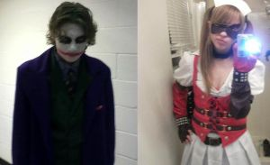 Joker and Harley Quinn Cosplay by Kayla-Spicer