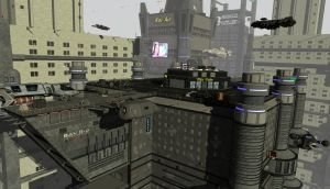 SciFi City Roof Top Level by 3-d-c