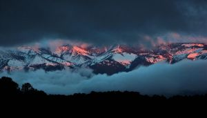 High Sierras at sunrise by finhead4ever