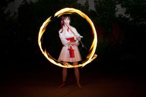 spinning flame by Arachnoid