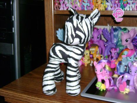 Pony Plushie Zebra (In Progress 2) by ShyraWolf