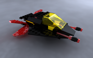 LEGO Blacktron Invader by zpaolo