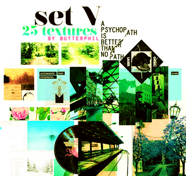 25 textures SET V by Butterphil
