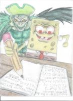 death note spongebob by axel13579