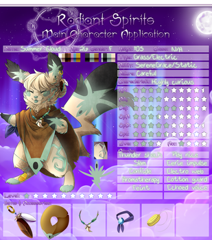 Radiant Spirits Application- Summer Cloud by FeisuCakester