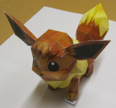 Eevee paper craft by tbterra