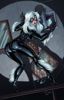 Black Cat Caught Colors by DStPierre