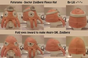 Doctor Zoidberg Fleece Hat by LiliNeko