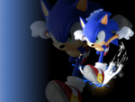 Sonic Wallpaper by JA-Renders