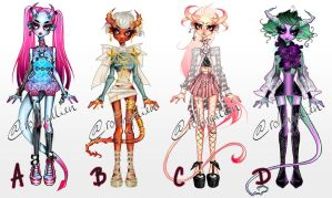 DEMON ADOPTS $12 EACH by RollingAlien
