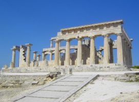 Ancient Temple Ruins in Greece by laistrygon