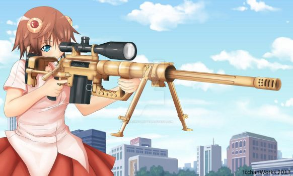 M200 Intervention High Caliber Sniper Rifle by IcchanMisaki