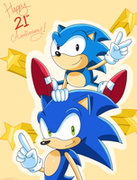 Happy 21st Anniversary Sonic by Domestic-hedgehog