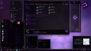 Purple Butterfly win 7 theme by Sc0uT10