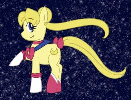 Sailor PonyMoon by chaoticteapot