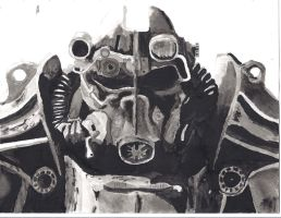 Fallout T-45D Power Armor by o0m-9