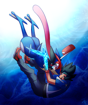 Be a hero while im gone Greninja by KthTheArtist