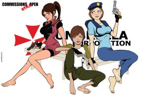 The first ladies of Resident Evil by sandrock74