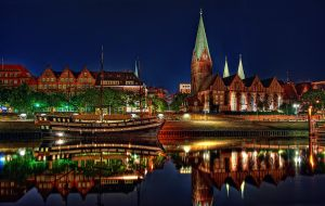 Bremen by night by Kalterwind