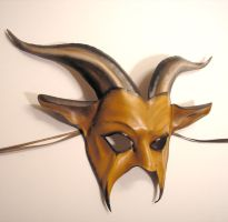 Leather Goat Mask in Palomino by teonova