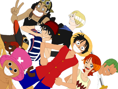 Flare and the Mugiwara Crew by MidnightDayDream