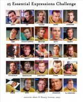 Kirk 25 Expressions Challenge by linus108Nicole