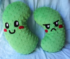 Pickle Brothers Plushies: Sweet and Sour by XOFifi