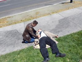 Cosplay: Dean and Castiel 5 by SharysAogail