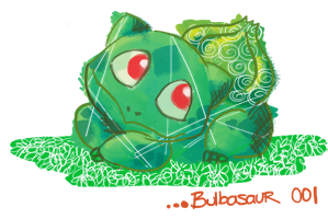 BULBASAUR by Tsukino-Black