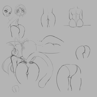 Sketch: Butts by freelancemanga