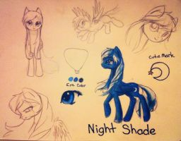 Night Shade (my new OC) by IfreakenLoveDrawing