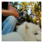 flawed  selfie with dog by Mittelfranke