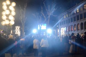 Boston's Faneuil Hall Concert Tree Lighting Crowd by Miss-Tbones