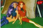 Psylocke and Phoenix by Mythical-Mommy