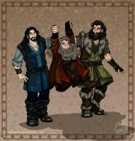 The Hobbit: One Two Three Whee! by wolfanita