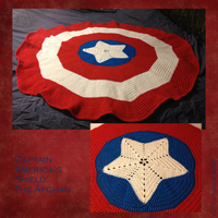 Afghan: Captain America's Shield by yarngirl